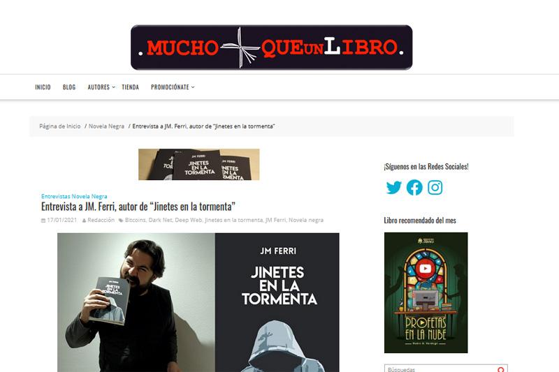 Entrevista en MUCHO MÁS QUE UN LIBRO