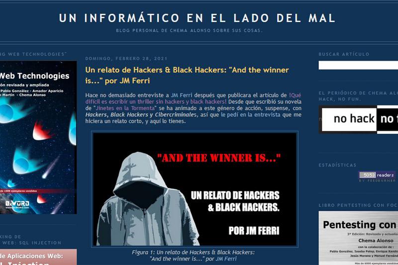 Relato: «And the winner is…» – El Otro Lado del Mal (Chema Alonso)