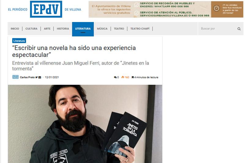 Entrevista en El Periódico de Villena
