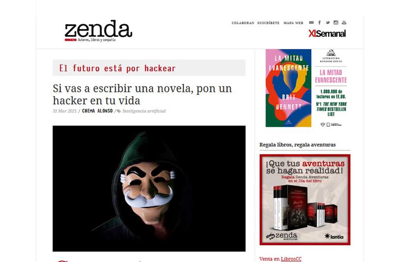 Zenda Libros: el futuro está por hackear
