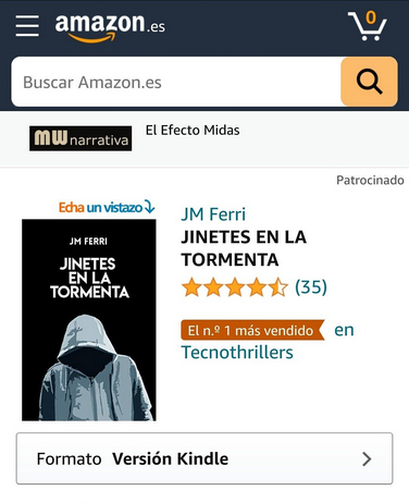 1 de abril de 2021, el tecnothriller más vendido en Amazon España