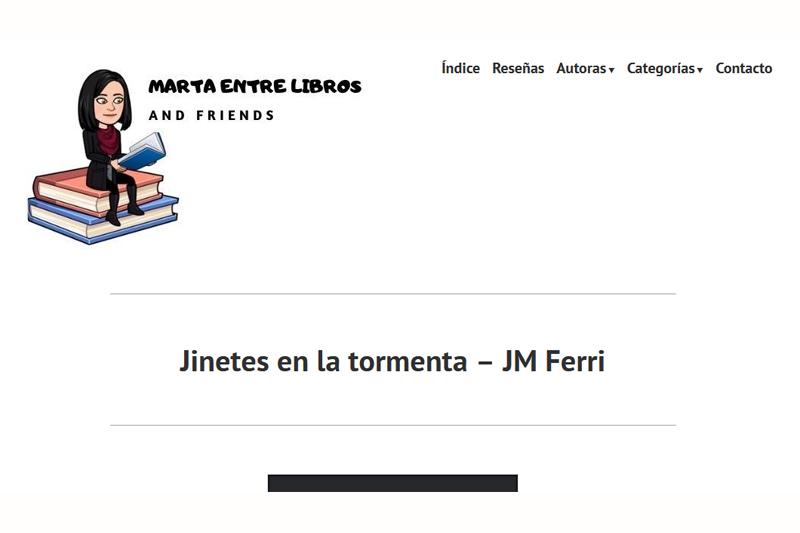 Marta entre libros: reseña de Jinetes en la Tormenta