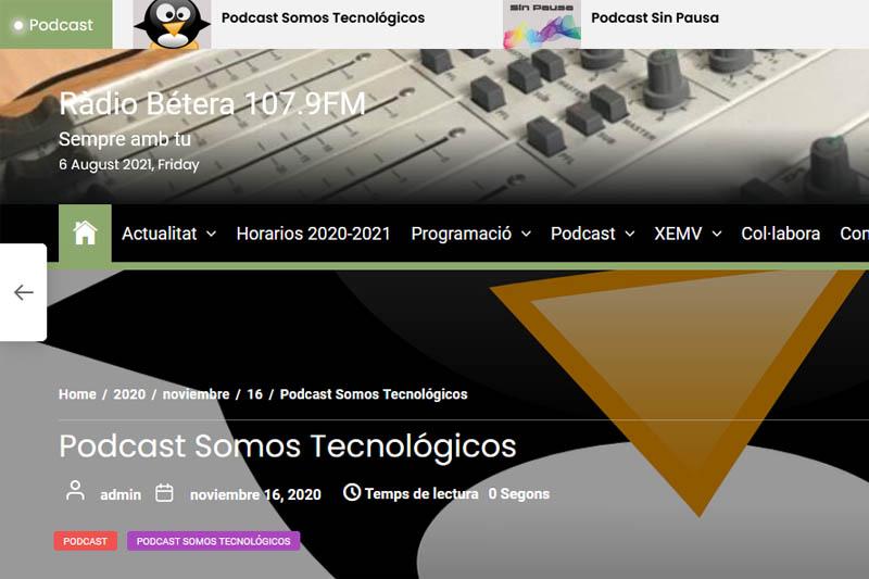 Somos Tecnológicos (Radio Bétera): entrevista a JM Ferri